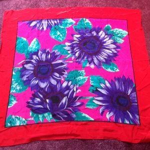 Adrienne Vittadini ladies Japanese silk scarf NWOT